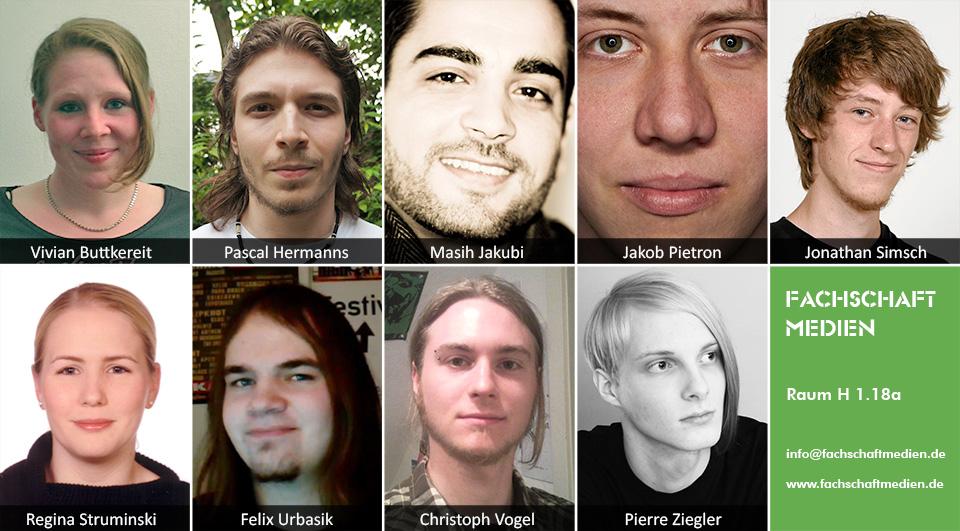 Die Mitglieder des Fachschaftsrats Medien