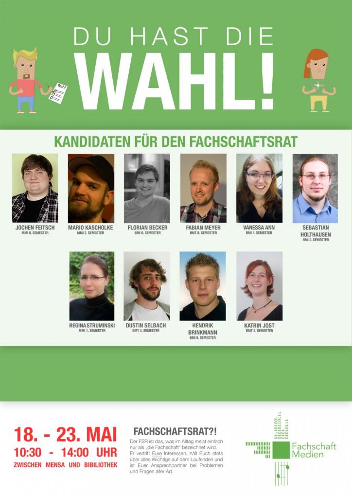 Wahlplakat FSR 2015