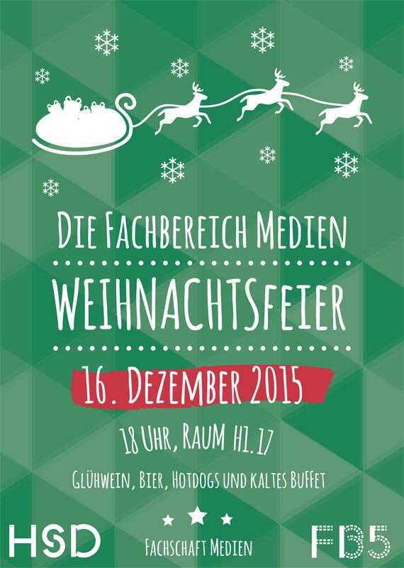 Plakat Weihnachtsfeier 2015